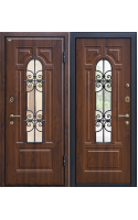 Входные двери М30 тёмный орех