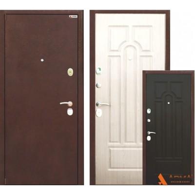 Входные двери Классика венге-белёный дуб