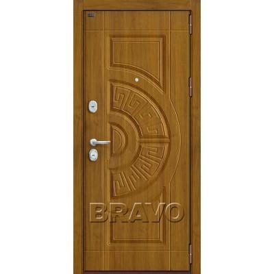 Входные двери  Браво P3-302 Золотой Дуб