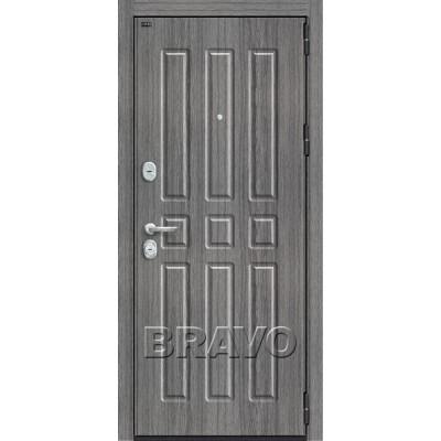 Входные двери  Браво P3-303 Серый Дуб
