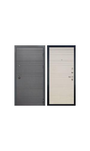 Входная дверь Лекс Легион 3К Софт графит / Дуб фактурный кремовый (панель №63)