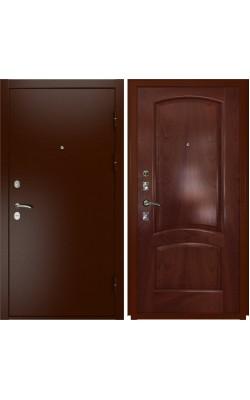 Входные двери  Luxor 3а Лаура Красное дерево