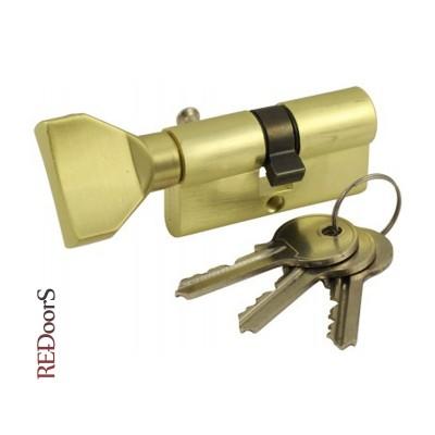 Цилиндровый механизм (личинка замка) VC60-SB Матовое золото