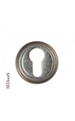 Накладка на цилиндр замка ET03AS Состаренное серебро