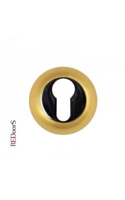 Накладка на цилиндр замка ETC Матовое золото