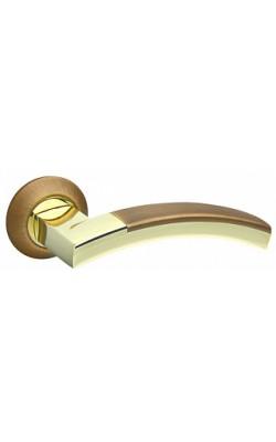 Ручки дверные Accord RM AB/GP-7 бронза/золото.