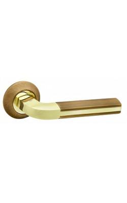 Ручки дверные Largo RM AB/GP-7  бронза/золото.