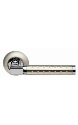Ручки дверные Eridan LD37-1SN/CP-3 матовый никель/хром.