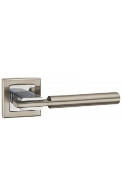 Ручки дверные City QL SN/CP-3 матовый никель/хром.