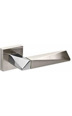 Ручки дверные Diamond DM SN/CP-3 матовый никель/хром.