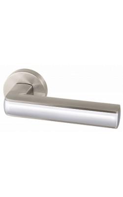 Ручки дверные Cube URB3 SN/CP/SN-12 матовый никель/хром/матовый никель.