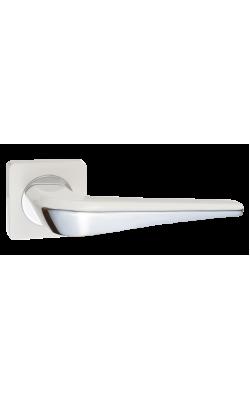 Ручки дверные Фиоре DH 425-02 W/CP (белый/хром)