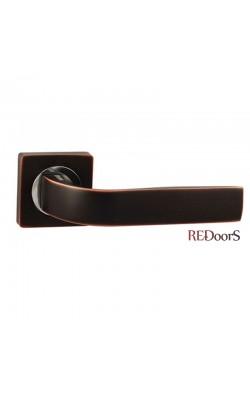 Ручки дверные V01BL Черный с патиной