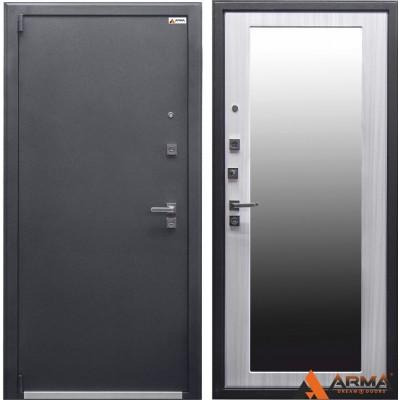 стальные двери белые с зеркалом